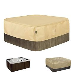 Hentex Square Hot Tub Cover Outdoor SPA Covers (82″ Lx69 Wx14 H)