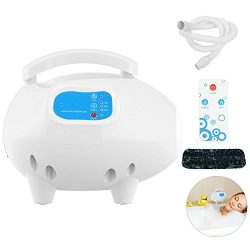 Bubble Bath Tub Massager, Waterproof Air Bubble Bath Tub Ozone Sterilization Body Spa Massage Ma ...