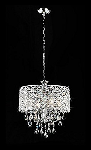 Whse of Tiffany RL5633 Deluxe Crystal Chandelier, 9″ x 17″ x 17″