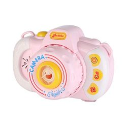 Fine Bubble Camera Blower Machine Electric Music Flashing Light Bubble Machines Automatic Camera ...