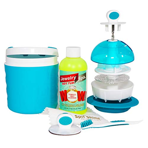 Jewelry Spa Hot Tub – Jewelry Cleaning Kit, Removes Tarnish, Germs and Odor from Rings, Di ...