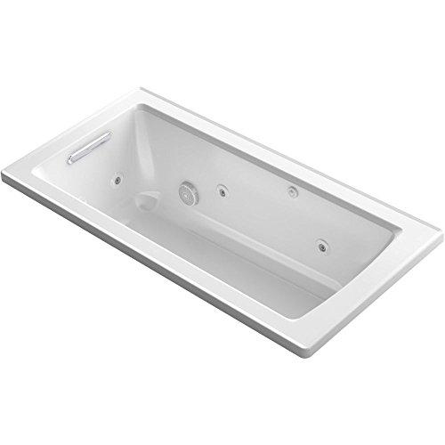 KOHLER K-1947-0 Archer Drop-In Whirlpool Bath, 60″ x 30″, White