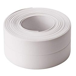AIEX 12.4 Ft x 1.45 Inch Caulk Strip PE Flexible Self Adhesive Tape Waterproof Sealing Tape for  ...