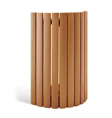 The Sauna Place Cedar Vertical Slat Light Shade 7 1/2″ W x 10 1/4″ H (for use with V ...