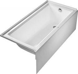 Duravit 700407000000090 Bathtub Architec 66″x32″ white,with integr.panel+tile flange ...