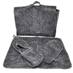 Dobraparov Vanity Set of Accessories for Sauna/banya – 4 Pieces – Grey – One S ...