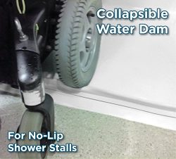 StayDry Systems Collapsible Water Dam (5) (Water Stopper, ADA Wheelchair Accessible Shower Thres ...