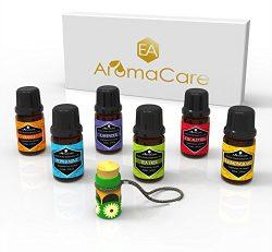 Essential Oils Gift Set,100% Pure (Lavender, Peppermint, Lemongrass, Tea Tree, Eucalyptus, Orang ...