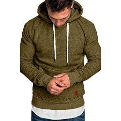 Hoodies for Men Pervobs Men's Long Sleeve Autumn Solid Pocket Loose Casual Sweatshirt Hood ...