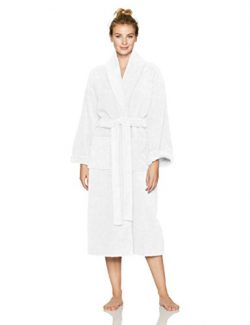 Pinzon Terry Bathrobe 100% Cotton, White, Large / X-Large
