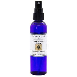 Travertine Spa Steam Shower Spray | Eucalyptus & Citrus | Shower Aromatherapy | Sinus and Co ...