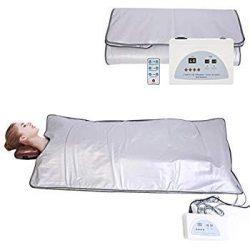InLoveArts Digital Far-Infrared (Fir) Heat Sauna Blanket 2 Zone Controller to Reduce Weight Thin ...