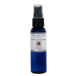 Travertine Spa Steam Shower Spray, Eucalyptus And Lavender, 2 oz.