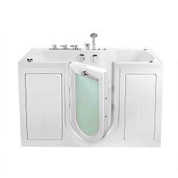 Ella's Bubbles O2SA3260HMH-L Tub4Two Hydro Massage and Microbubble Acrylic Walk-in Tub wit ...