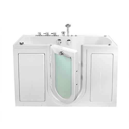 Ella's Bubbles O2SA3260HMH-L Tub4Two Hydro Massage and Microbubble Acrylic Walk-in Tub wit ...