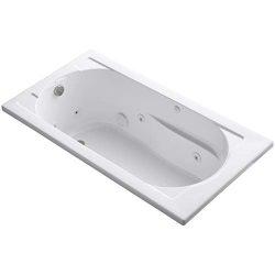 Kohler 1357-0 Devonshire 5′ Whirlpool Bathtubs, 50-60 gal, White