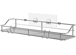 KESOL Shower Caddy Wall Shelf with Hooks, 2 Installation Methods Basket Shelf for Kitchen &  ...