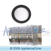 Whirlpool 4160963 Faucet Adapter, 1x1x1, Chrome