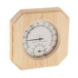 ☀ Dergo ☀ Indoor Thermometer,Sauna Thermometer&Hygrometer 2 In 1 Wood Hygrothe ...