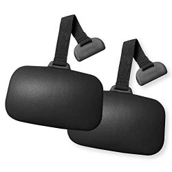 Carefree Stuff Hot Tub Weighted Black Replacement Headrest Spa Pillow (2 Pack)