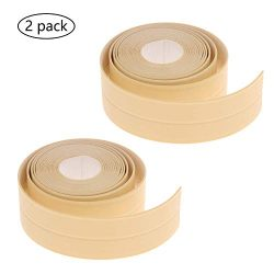 Caulk Strip Tape for Bathtub Wall Sealing Tape Strip 2 Pack PE Self Adhesive Waterproof Caulk Se ...
