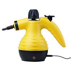 SteamClean Handheld Pressurized Cleaner 350 Milliliter Water Tank Capacity 9 Pieces Accessory Se ...