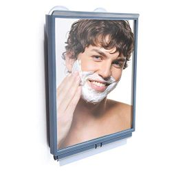 ToiletTree Products Travel/Dorm Fogless Shower Shaving Bathroom Mirror with Squeegee and Travel  ...