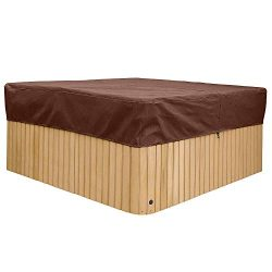 Square Hot Tub Cover, Heavy Duty Hot Tub Chemicals Protectors, Weather Resistant Outdoor SPA Cov ...