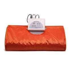 InLoveArts Far Infrared Sauna Blanket, 70.8×31.4 Inches 110V 2 Zone Waterproof Detoxificati ...