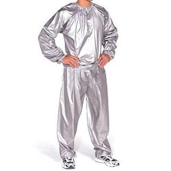 Sauna Suit for Men XL Heavy Duty Sweat Sauna Suit Gym Fitness Exercise Fat Burn Weight Loss :Gra ...