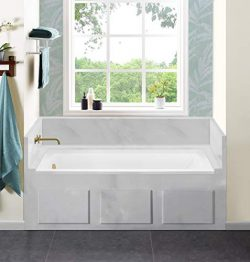 Swiss Madison SM-DB561 Voltaire 48 x 32 in. Acrylic Left-Hand Drain Drop-in Bathtub, White