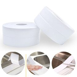 Homipooty PE Bathtub Caulk Strip Kitchen and Bathroom Wall Self Adhesive Waterproof Sealing Tape ...