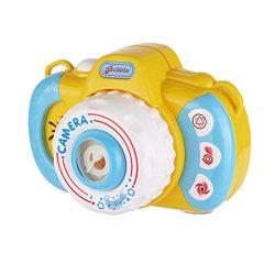 Fine Bubble Camera Blower Machine Electric Music Flashing Light Bubble Machines Automatic Camera ...
