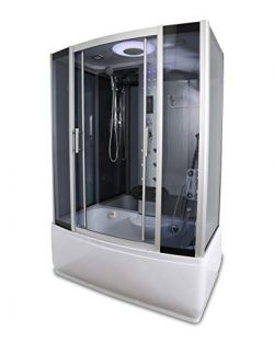 Kokss Y9001 Rectangle Steam Shower & Tub Enclosure with Hydro Massage Jets 58″ x 33 ...