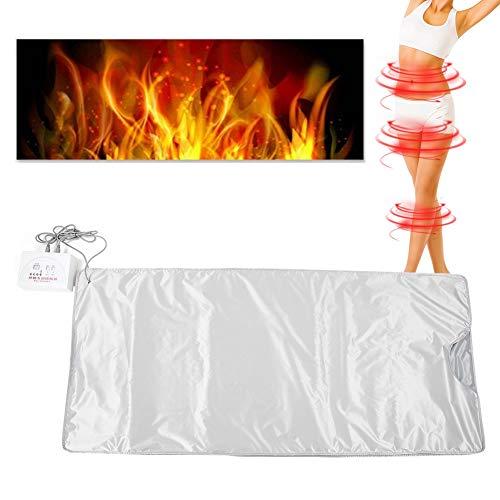 Heat Sauna Blanket,Electric Far Infrared Detox Sauna Heating Blanket Body Slimming Fitness Anti  ...