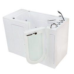 Ella's Bubbles OA3252D-R Monaco Air and Hydro Massage Acrylic Walk-In Bathtub with Right O ...