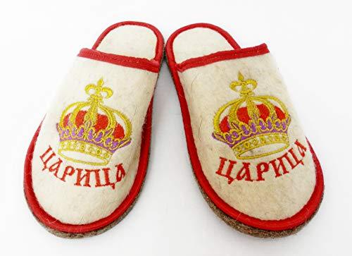 PetriStor Sauna Banya Slippers for Woman Queen Bath House 100% Natural Wool Felt Made in Ukraine