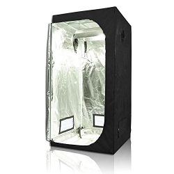 TopoGrow D-Door 36″X36″X72″ Indoor Grow Tent Room 600D Mylar High Reflective N ...
