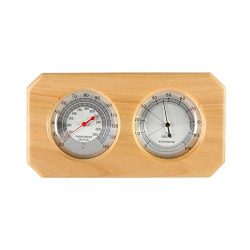 Dyna-Living Wooden Sauna Hygrothermograph Thermometer Hygrometer 2 in 1 Thermometer and Hygromet ...