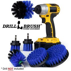Pool Accessories – Cleaning Supplies – Drill Brush – 5 Piece Spin Brush Pool C ...