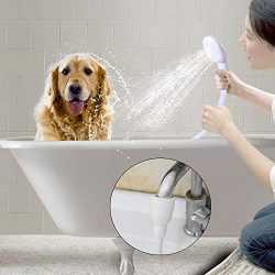 Besmon Pet Shower Sprayer for Bathtub,Tub Spout Shower Sprayer,Slip on Shower Hose,Shower Attach ...