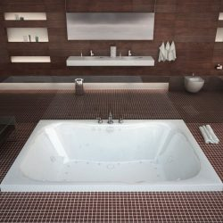 Atlantis Whirlpools 4860NDL Neptune 40 x 60 Rectangular Air & Whirlpool Jetted Bathtub