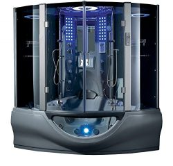 2020 Valencia Computerized Steam Shower Sauna with Jetted jacuzzi Whirlpool Massage Bathtub Spa  ...