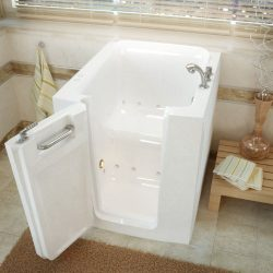 Meditub 3238lwa 3238 Series Rectangular Air Jetted Walk-In Bathtub, 32 X 38, Offset Drain, White