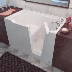 Meditub 3660rwd 3660 Series Rectangular Air & Whirlpool Walk-In Bathtub, 36 X 60, Right Drai ...