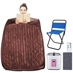 Aceshin Portable Steam Sauna Home Spa, 2L Personal Therapeutic Sauna Weight Loss Slimming Detox  ...