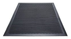 Guardian Clean Step Scraper Outdoor Floor Mat, Natural Rubber, 3'x5′, Black, Ideal f ...