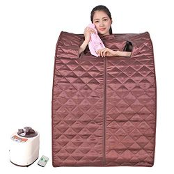 Smartmak Portable Steam Sauna,at Home Full Body One Person Spa Tent, 2L Steamer with Remote Cont ...