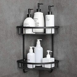 Hoomtaook Shower Caddy Wall Mounted Bathroom Shelf with Adhesive Bath Organizer Kitchen Storage  ...