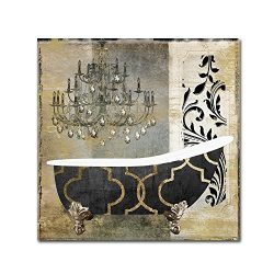 Paris Bath II by Color Bakery, 14×14-Inch Canvas Wall Art